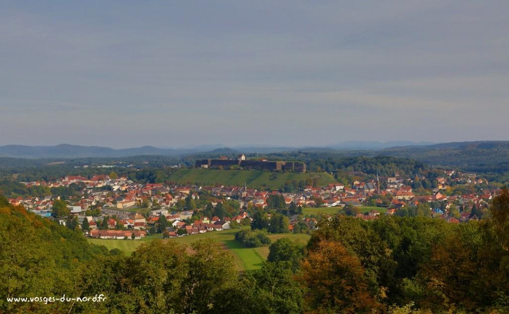 Vue de la situation géographique de la ville de Bitche